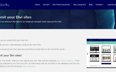 New feature: Submit your Divi sites