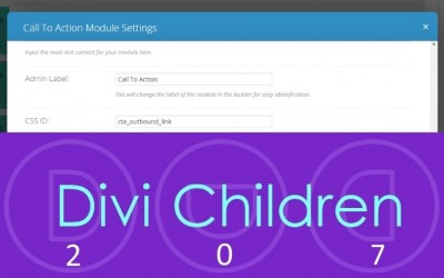 Open Divi Call To Action links in a new browser tab with Divi Children 2.0.7