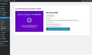 Divi Children 3.0 child created