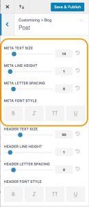 Divi post meta customizer options