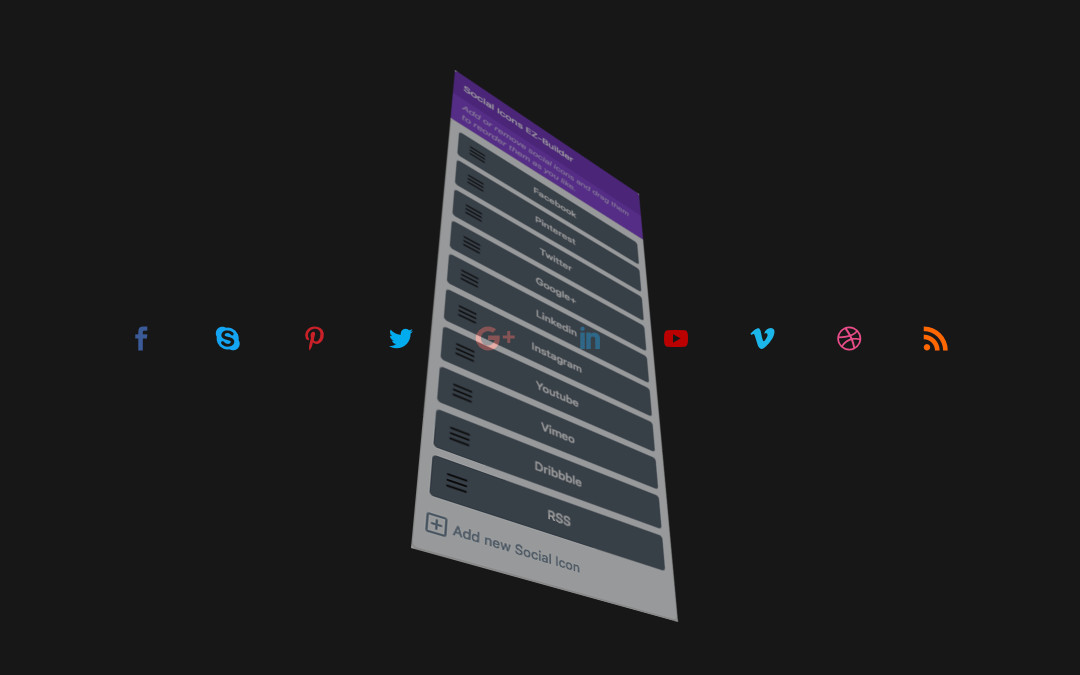 Customizing Divi social icons with the Social Icons EZ-Builder