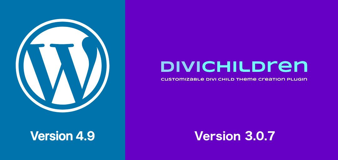 New Divi Children 3.0.7 version for WordPress 4.9